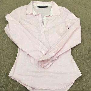 Zara pink button down